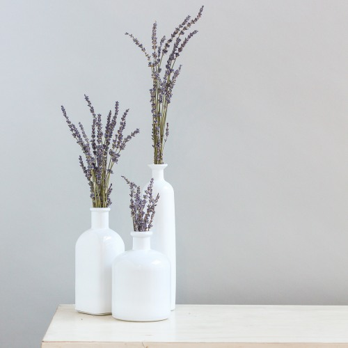 White Bottle Decor Set