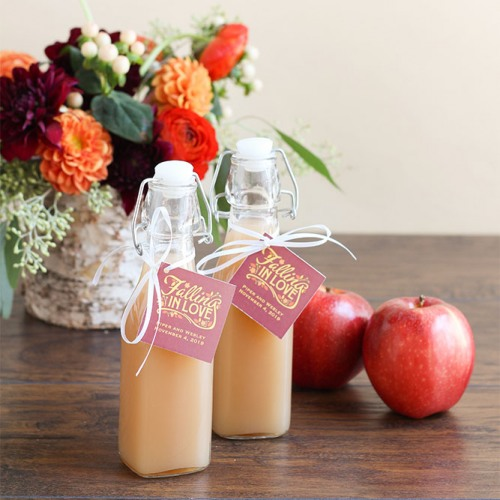 Swing Top Glass Bottle with Fall Love Tags