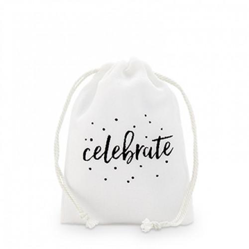 Celebrate Muslin Favor Bag