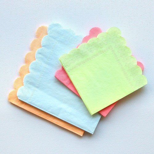 Neon Party Napkins