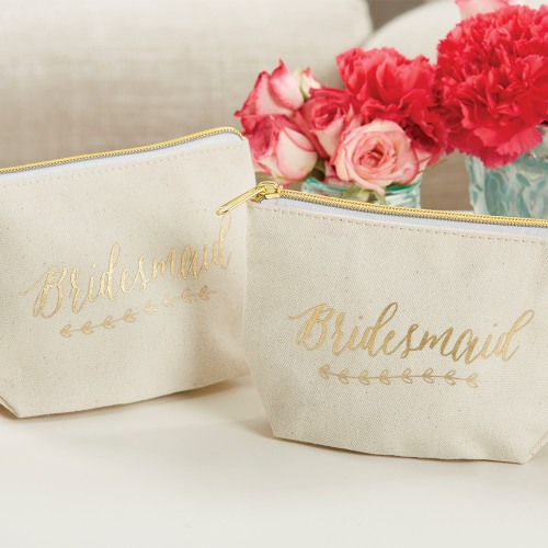 Bridesmaid Canvas Makeup Bag