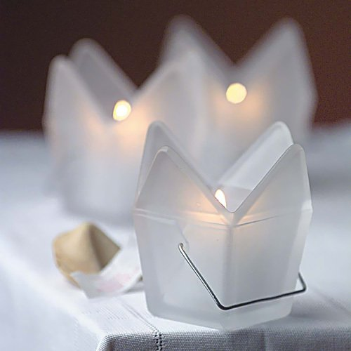 Chinese Takeout Box Candle Holders