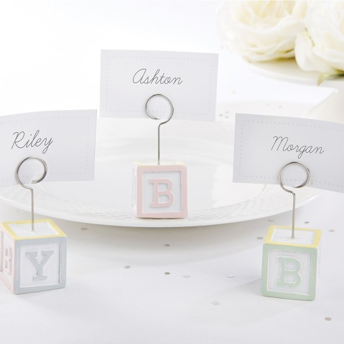 Baby Blocks Place Card Holders