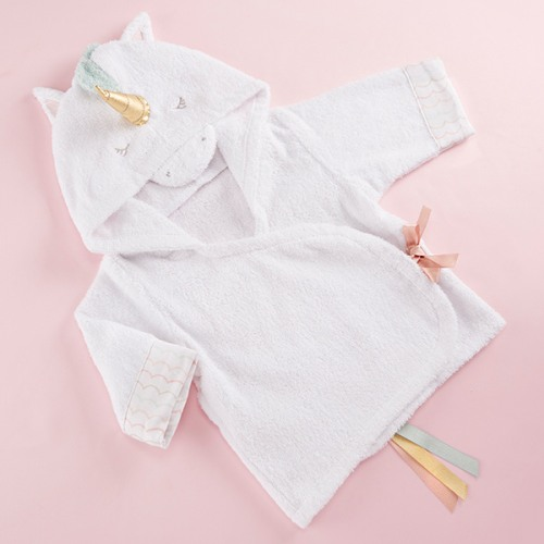 Unicorn Hooded Bath Robe