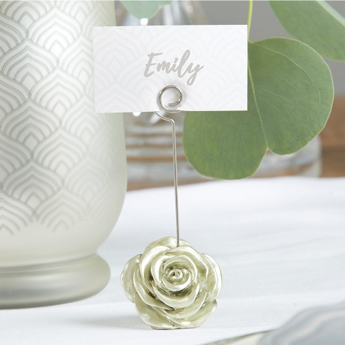 Light Gold Rose Place Card Holders