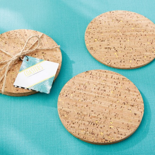Gold Flecked Cork Coasters