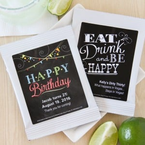 Personalized Cocktail Mix - Birthday Party Favors