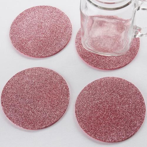 Pink Glitter Coasters
