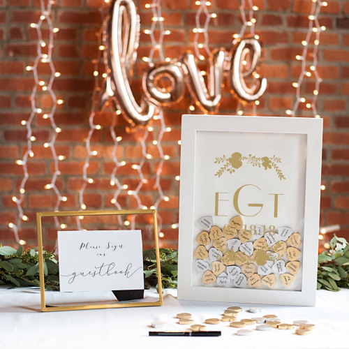 Personalized Heart Drop Guest Book
