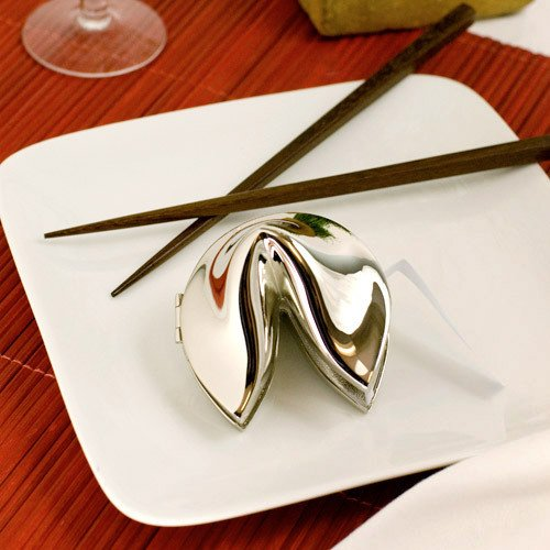 Silver Fortune Cookie Keepsake Boxes