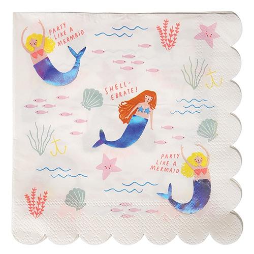 Mermaid Birthday Napkins