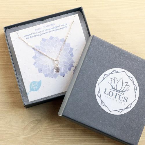 April Wildflower Birthstone Necklace