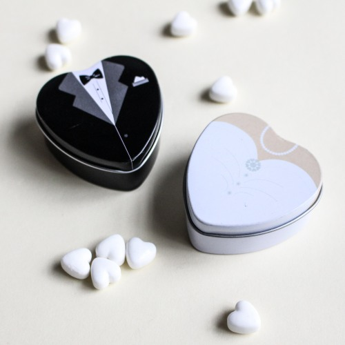 Bride and Groom Favor Tins