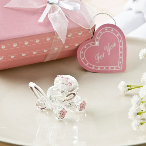 Baby Carriage Favor in Pink