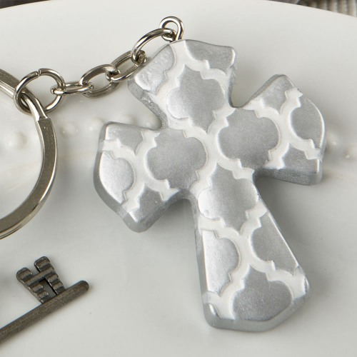 Cross Keychain Favor