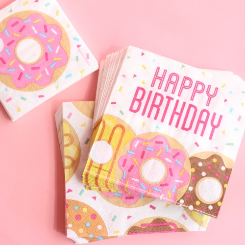 Donut Birthday Luncheon Napkins