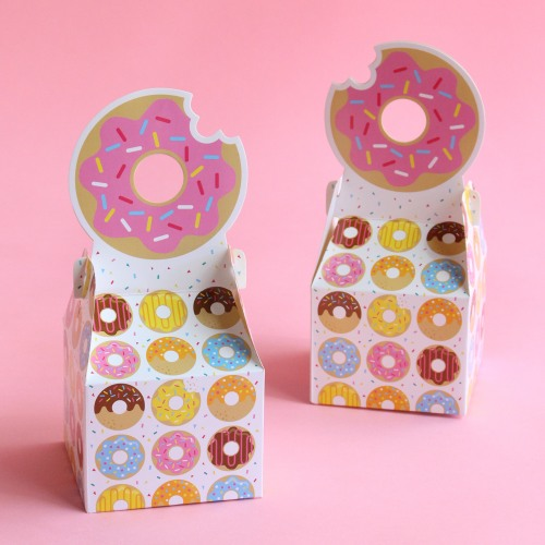 Donut Party Favor Boxes