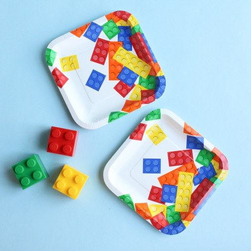 Block Party Cake Plates