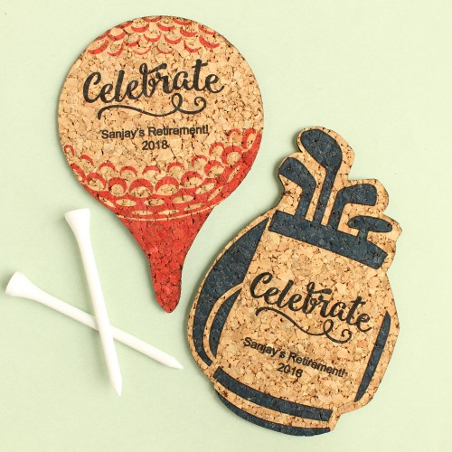 Personalized Shaped Party Cork Coasters
