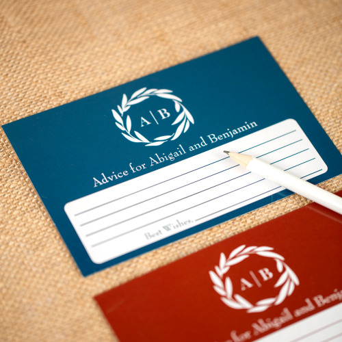 Personalized Fall Harvest Wedding Advice Cards