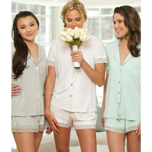 Jersey Lace Pajama Sets