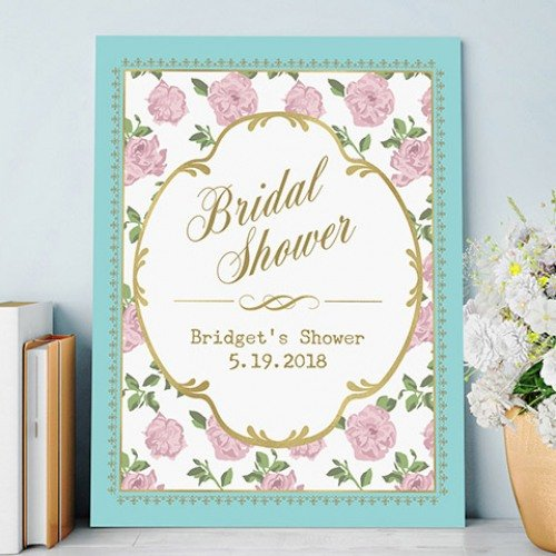 Personalized Bridal Shower Tea Time Poster