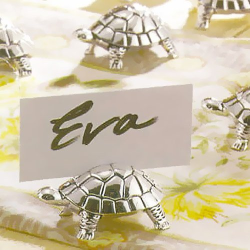 Silver Turtle Place Card Holders